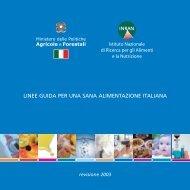 Linee guida per una sana alimentazione italiana - Operagastro