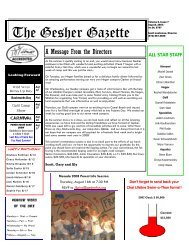 Issue 7 - August 10, 2007 - Gesher Summer Camp
