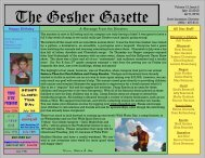 Issue 2 - July 12, 2013 - Gesher Summer Camp