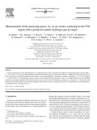 Measurement of the analyzing power AN in pp elastic scattering in ...