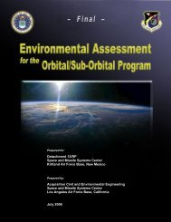 Final Environmental Assessment (FEA) - July 1, 2006