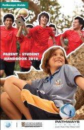 Parent - Student Handbook 2010 Edition 1 - Pathways World School