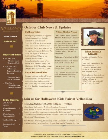 October Club News & Updates Join us for Halloween ... - Cybergolf