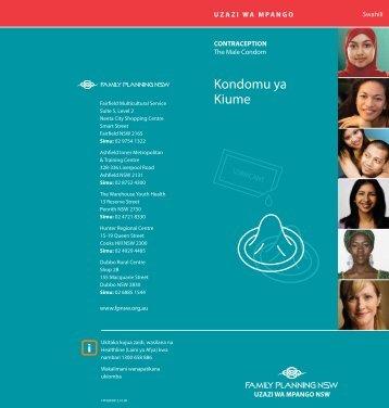 Kondomu ya Kiume - the NSW Multicultural Health Communication ...