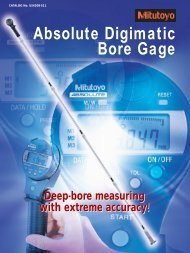 Absolute Digimatic Bore Gage - Mitutoyo America Corporation