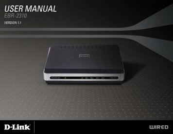D-Link EBR-2310 User Manual - Comspan Communications
