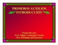 PRIMEROS AUXILIOS INTRODUCCIÓN - Saludmed