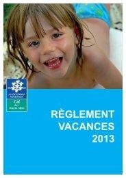 règlement vacances - Caf.fr