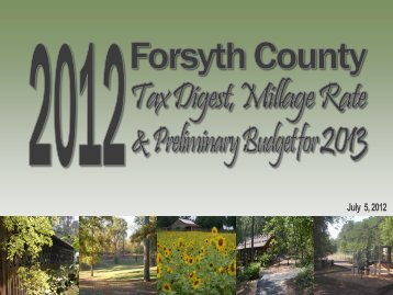 to view the presentation - Forsyth County Government