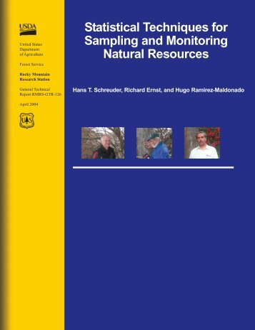 Statistical techniques for sampling and monitoring natural resources