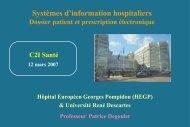 Cours 1 : Systèmes d'information hospitaliers - Dossier patient et