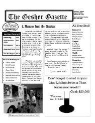 Volume 4 - Issue 6 - August 5, 2005 - Gesher Summer Camp