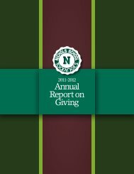 Annual Report on Giving - Nichols School