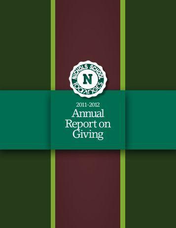 Annual Report on Giving - Nichols School