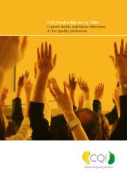 CQI membership report 2009 - Chartered Quality Institute