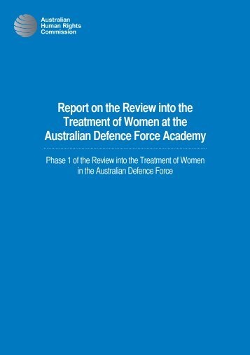 Download PDF - Defence Review - Australian Human Rights ...