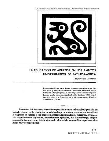 La Educación de Adultos en los ámbitos Universitarios de ... - Crefal