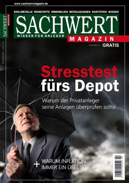 Sachwert Magazin Gratis-Heft Online