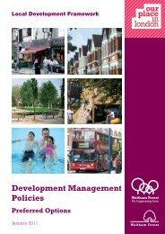 Development Management Policies - Waltham Forest Council