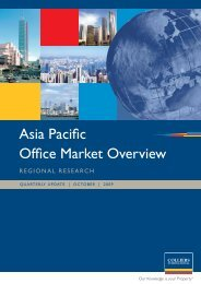 Asia Pacific Office Market Overview - Colliers