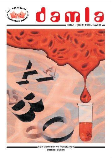 Kan Merkezleri ve Transfüzyon Derne¤i Bülteni