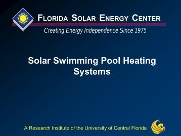 Solar Pool Heating Systems - Contractors Institute