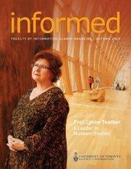 Prof. Lynne Teather - Faculty of Information - University of Toronto