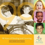 2011 Annual Report for Mt. Washington Pediatric Hospital