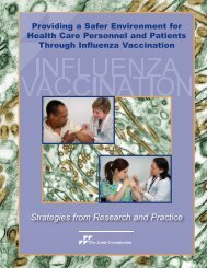 The Joint Commission Offers Seasonal Influenza Immunization ...