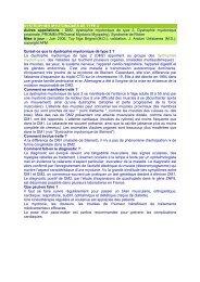 DYSTROPHIES MYOTONIQUES DE TYPE 2 Autres ... - ASRIM