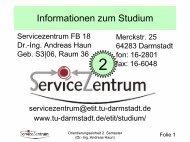 2. Semester - Technische Universität Darmstadt