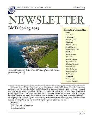 Spring 2013 - Biology & Medicine - American Nuclear Society