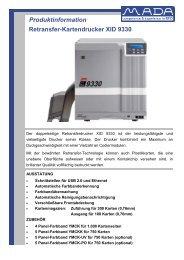 Retransfer-Kartendrucker XID 9330 Produktinformation