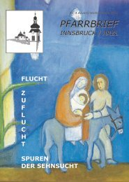 Pfarrbrief Innsbruck / Arzl - Nr. 4 Advent / Weihnachten 2014
