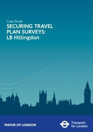 SECURING TRAVEL PLAN SURVEYS: LB Hillingdon