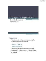 Linguagem de Programação II - Hudson Costa