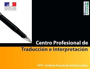 Centro Profesional de Traducción e Interpretación - Embajada de ...