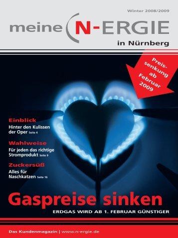 Gaspreise sinken - N-ERGIE Aktiengesellschaft