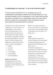 Værdigrundlaget for ergoterapi - Ergoterapeutforeningen