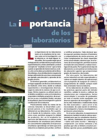 La importancia de los laboratorios - Instituto Mexicano del Cemento ...