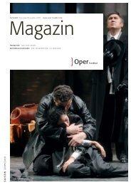 Opernmagazin November - Dezember 2009 - Oper Frankfurt