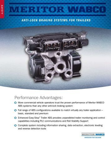 meritor wabco trailer abs troubleshooting