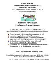 NSP Purchase Assistance Application - City of Deltona, Florida
