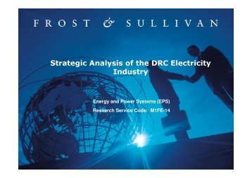 Strategic Analysis of the DRC Electricity Industry - Growth Consulting