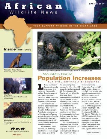 Population Increases - African Wildlife