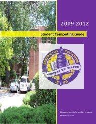 Student Computing Guide Student Computing Gu - Benedict College