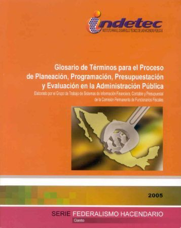 Glosario de Términos para el Proceso de Planeación ... - Indetec