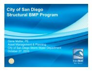 City of San Diego S l BMP P Structural BMP Program