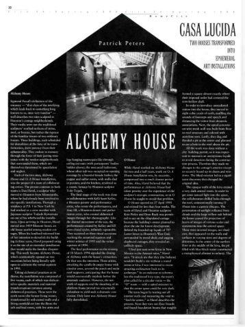 Casa Lucida/Casa Obscura