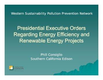 Presidential Executive Orders Regarding Energy Efficiency and ...